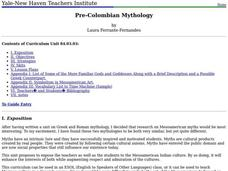 Pre-Colombian Mythology Lesson Plan