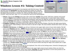 Windows Lesson #2: Taking Control Lesson Plan