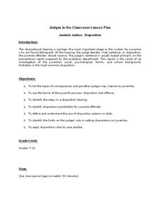 Judges in the Classroom Lesson Plan