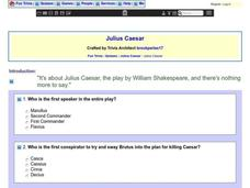 Julius Caesar: Fun Trivia Quiz Worksheet