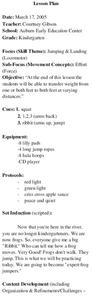 Jumping & Landing Lesson Plan