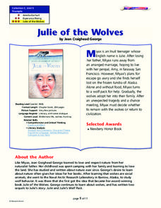Julie of the Wolves Lesson Plan