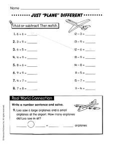 "Just ""Plane"" Different Worksheet"