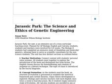 Jurassic Park: The Science and Ethics of Genetic Engineering Lesson Plan