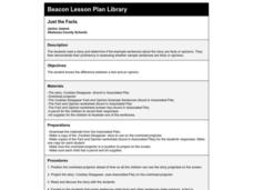 Just the Facts Lesson Plan