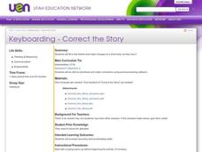 Keyboarding - Correct the Story Lesson Plan