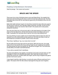 Bruce and the Spider Worksheet
