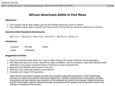 African Americans Settle in Fort Mose Lesson Plan