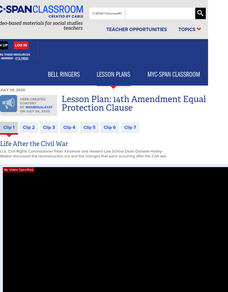 14th Amendment Equal Protection Clause Lesson Plan