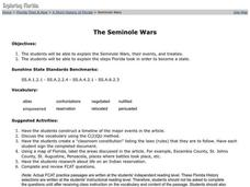 The Seminole Wars Lesson Plan