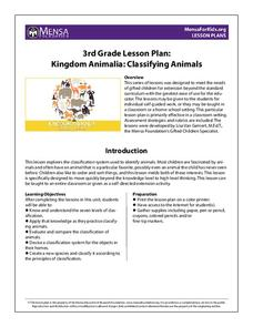 Kingdom Animalia: Classifying Animals Lesson Plan