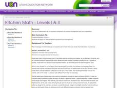 Kitchen Math - Levels I & II Lesson Plan