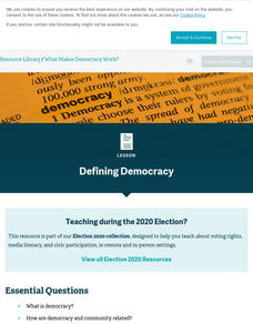 Representative Democracy Lesson Plans & Worksheets