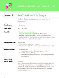 See The Good Challenge Lesson Plan