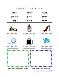 L Blends Lesson Plan