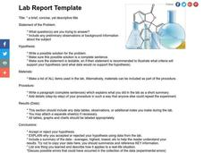 Lab Report Template Lesson Plan