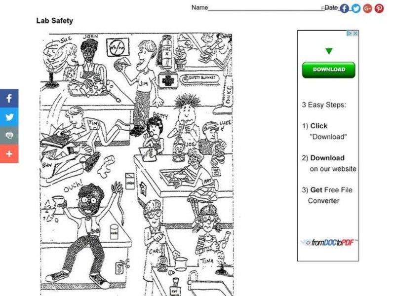 Beautiful Lab Safety Picture Worksheet Checks Worksheet