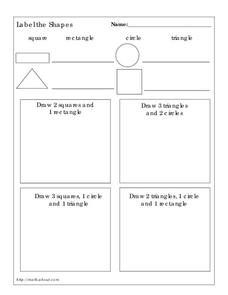 Label the Shapes Worksheet