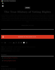 The True History of Voting Rights Lesson Plan