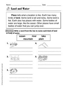Land and Water Worksheet