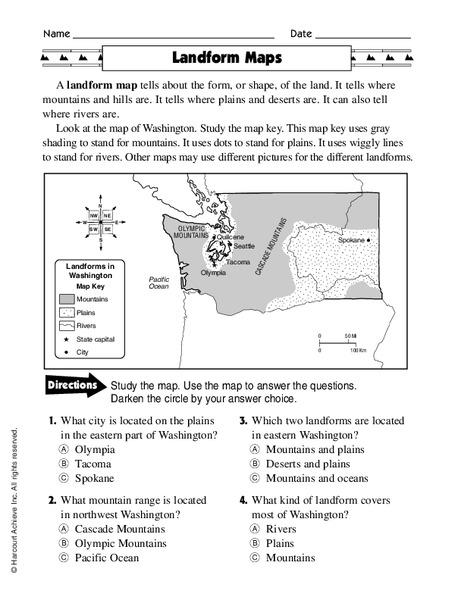Landform Maps Lesson Plans Worksheets Reviewed By Teachers