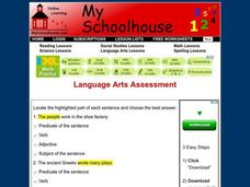 Language Arts Assessment Interactive