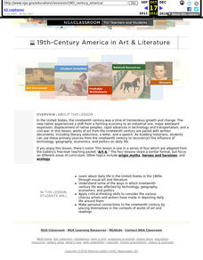 Art & 19th Century America Lesson Plan