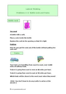 Lateral Thinking Worksheet