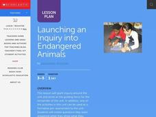 Launching an Inquiry into Endangered Animals Lesson Plan