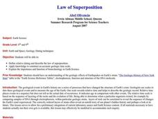 Law of Superposition Lesson Plan