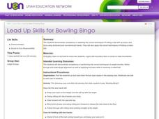 Lead Up Skills for Bowling Bingo Lesson Plan