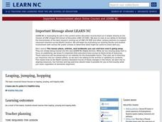 Leaping, Jumping, Hopping Lesson Plan