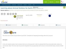 Learning About Animal Shelters for Earth Day Lesson Plan