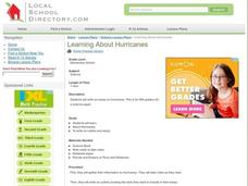 Learning About Hurricanes Lesson Plan