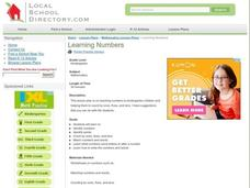 Learning Numbers Lesson Plan