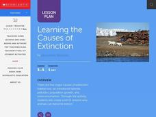 Learning the Causes of Extinction Lesson Plan