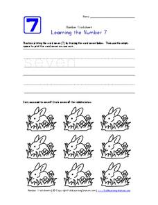 Learning the Number 7 Worksheet