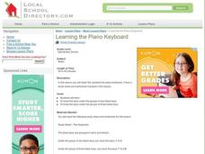 Learning the Piano Keyboard Lesson Plan