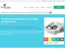 Learning to Spend, Learning to Give Lesson Plan
