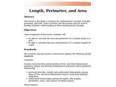 Length, Perimeter, and Area Lesson Plan