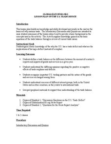 Lesson Plan on the U.S. Trade Deficit Lesson Plan