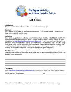 Let it Rain Worksheet