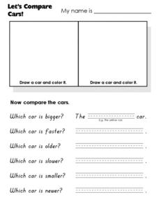 Let's Compare Cars! Worksheet