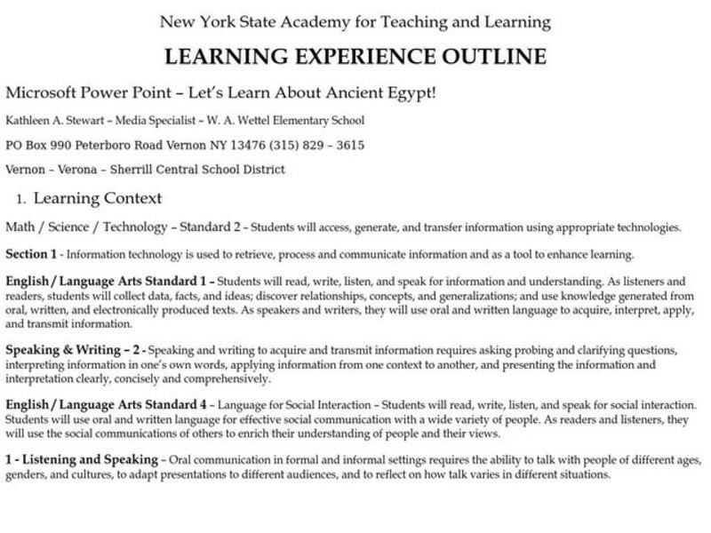 Let's Learn About Ancient Egypt! Lesson Plan for 6th Grade | Lesson