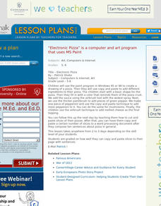 Electronic Pizza Lesson Plan