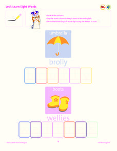 Let's Learn Sight Words Lesson Plan