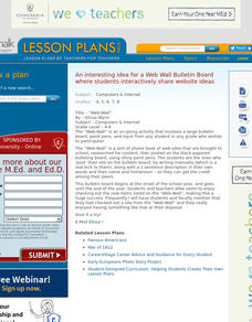 Web Wall Bulletin Board Lesson Plan