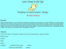 Let's Sum It All Up Lesson Plan