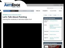 Let's Talk About Painting Lesson Plan