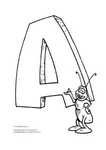 Letter A is for Ant Worksheet